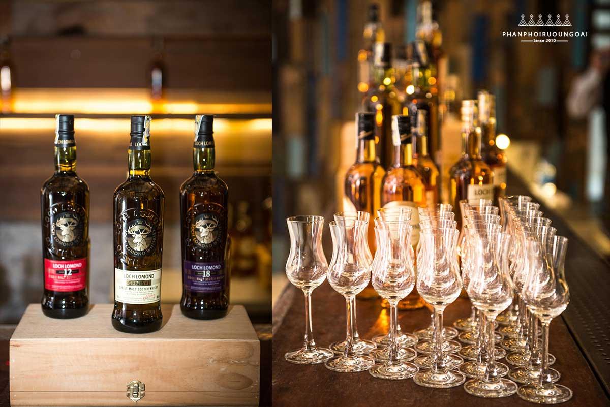 Các loại Rượu Glen Scotia và Loch Lomond trong chương trình giới thiệu