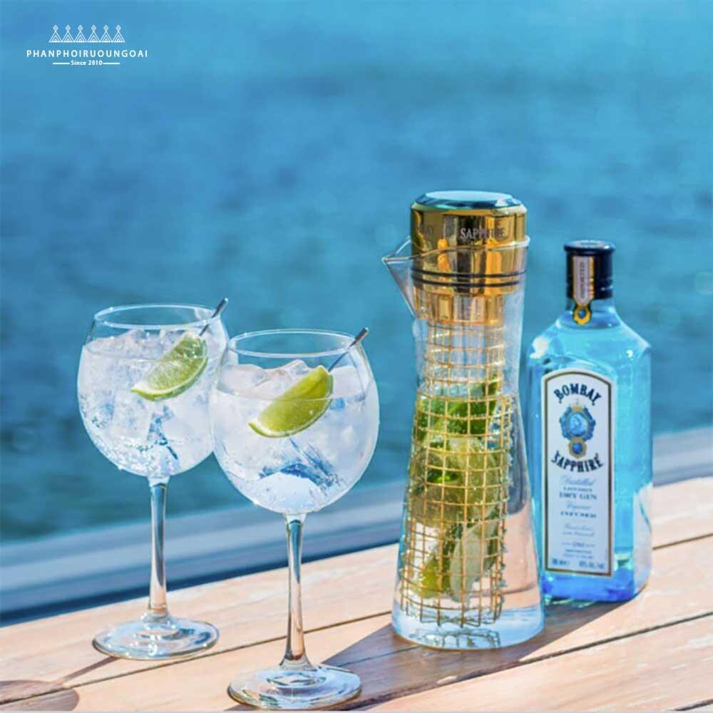 Cocktail với rượu Bombay Sapphire