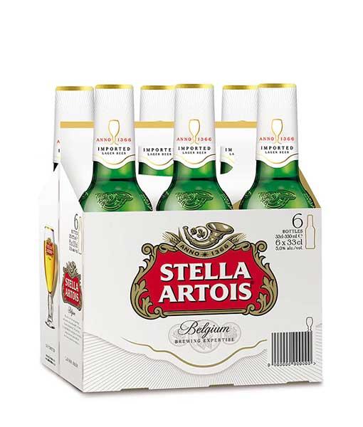 Hộp 6 chai bia Stella Artois