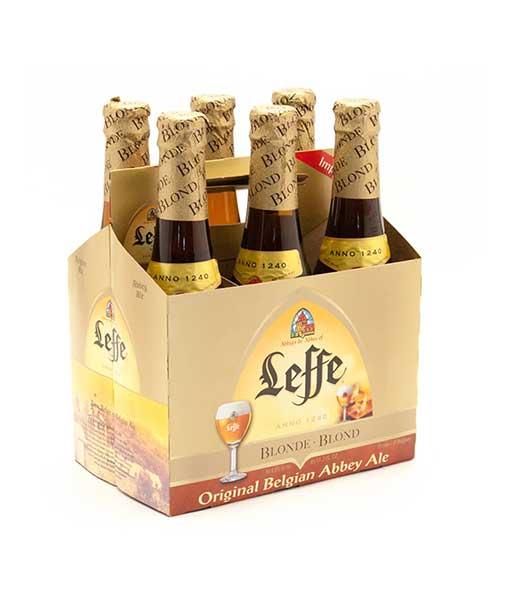 Hộp 6 chai bia Leffe vàng 330 ml
