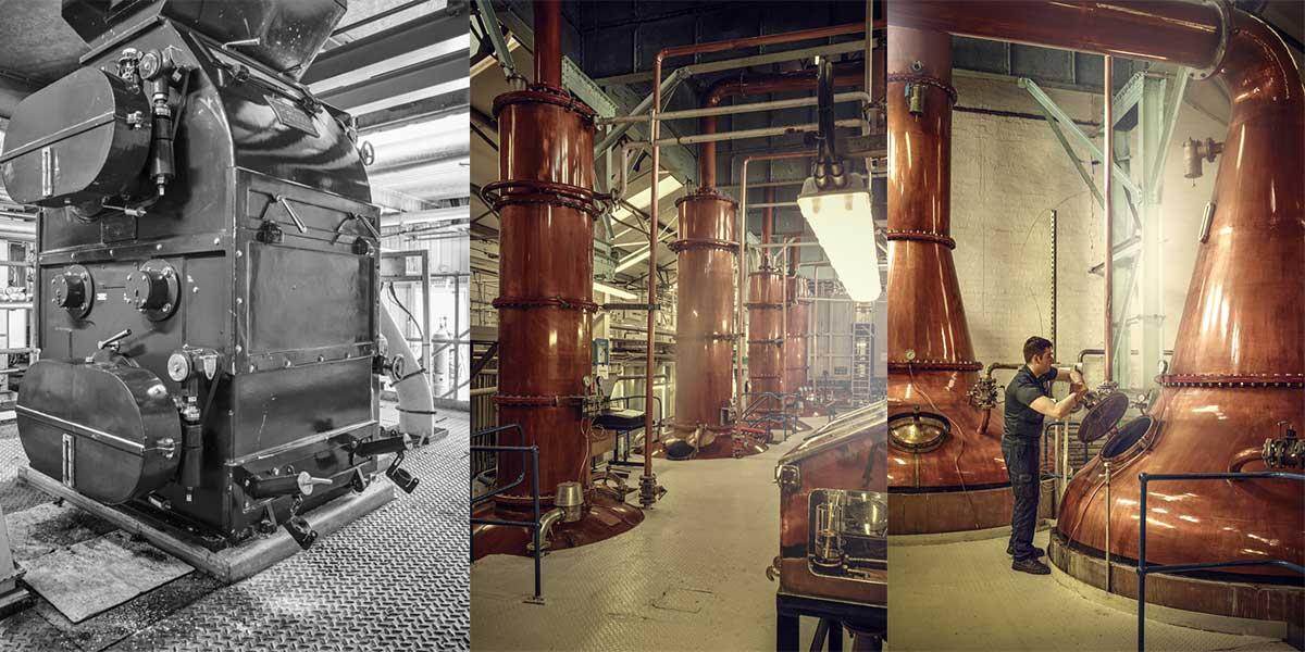 Khu trưng cất rượu của nhà máy Loch Lomond