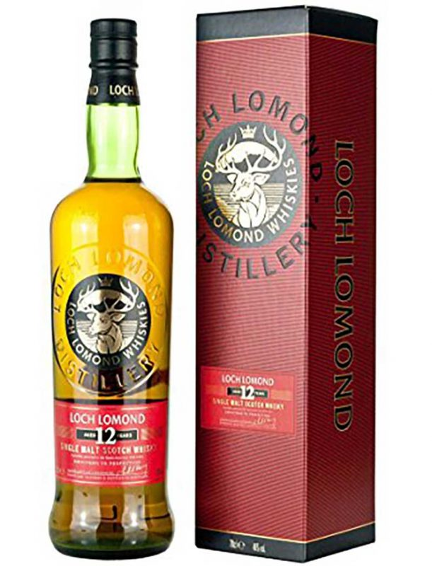 Rượu Loch Lomond 12 và hộp giấy