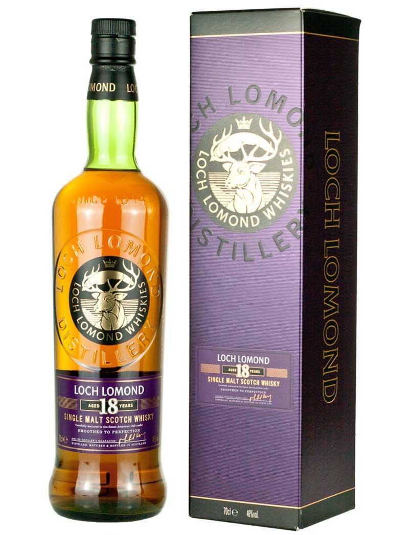 Rượu Loch Lomond 18 và hộp giấy