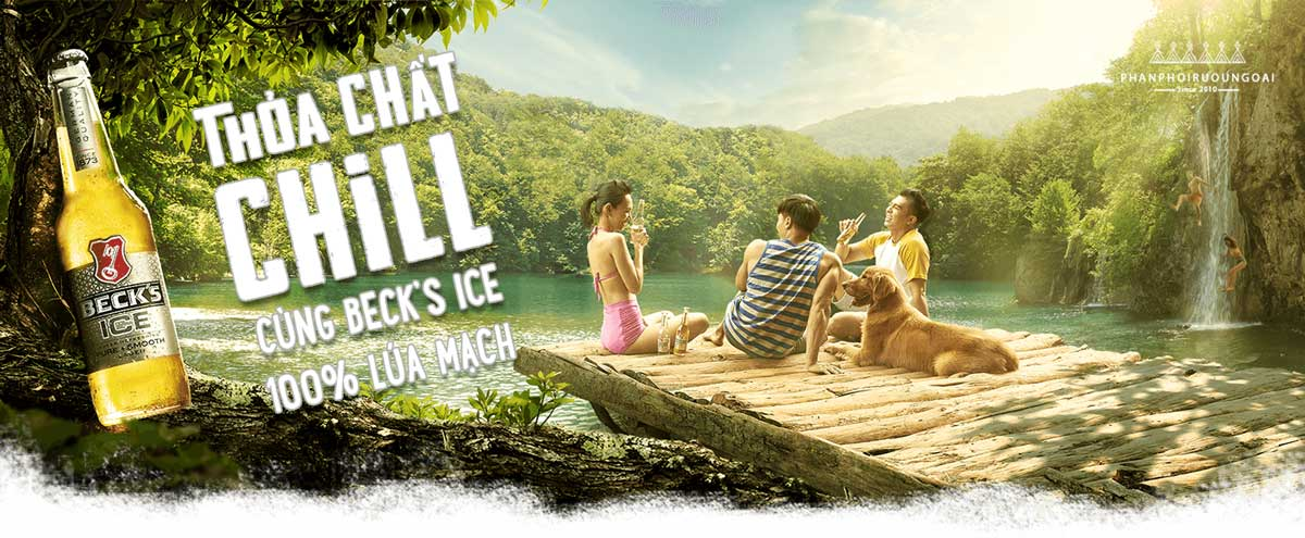 Thoả chất Chill cùng bia Beck's Ice