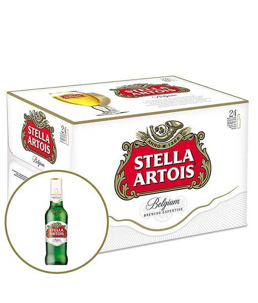 Thùng bia Stella Artois 24 chai