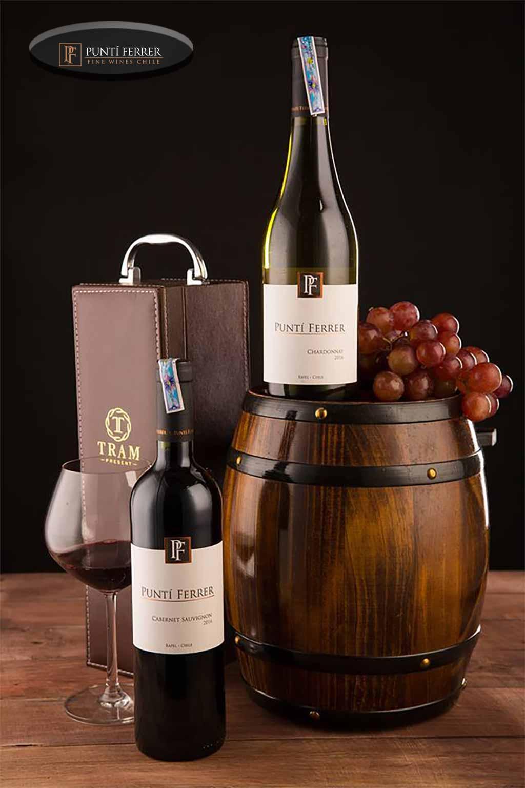 Dòng rượu vang Punti Ferrer Cabernet Sauvignon - Chardonnay