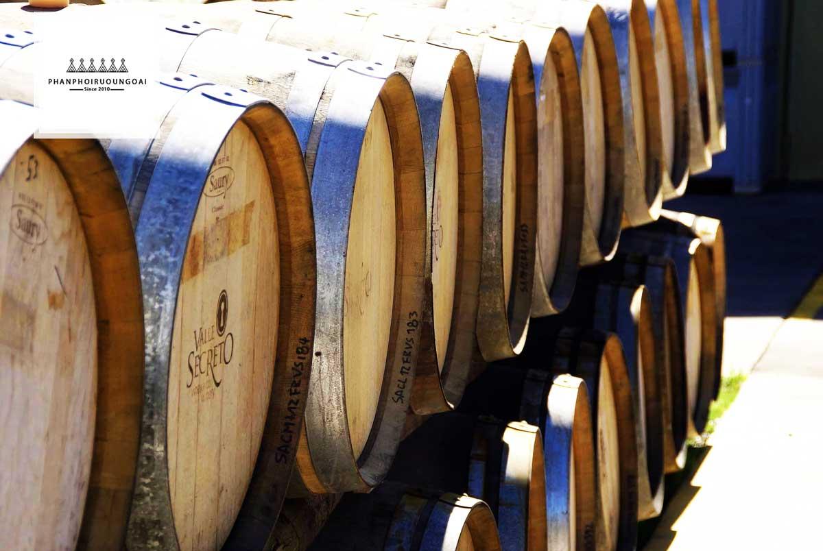 Thùng gỗ sồi chất lượng của nhà Valle Secreto