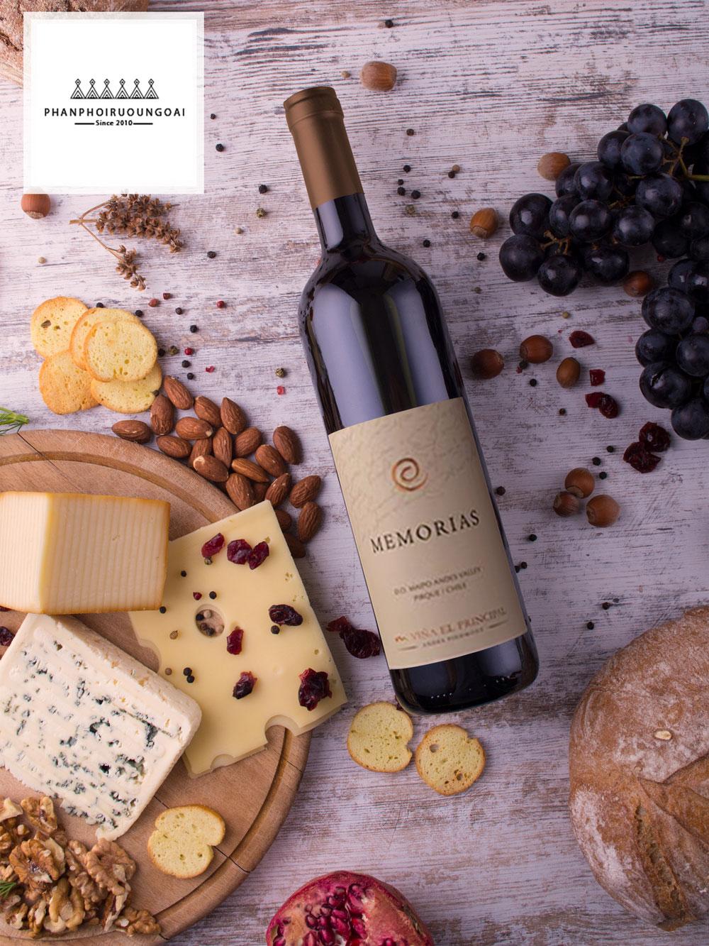 Rượu Vang Memorias rượu vang nổi tiếng của Chile