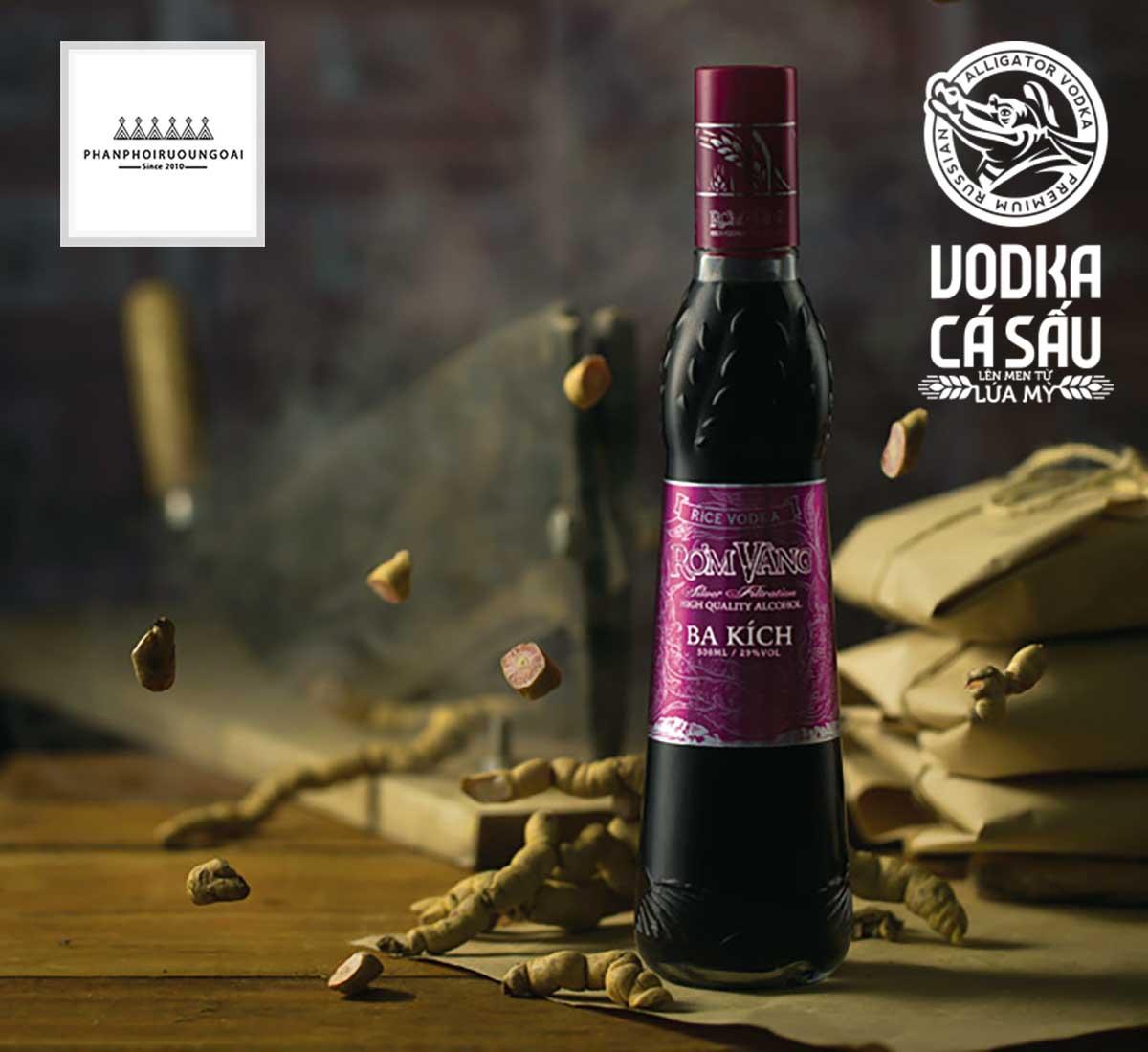 Rượu Ba Kích Rơm Vàng 500 ml