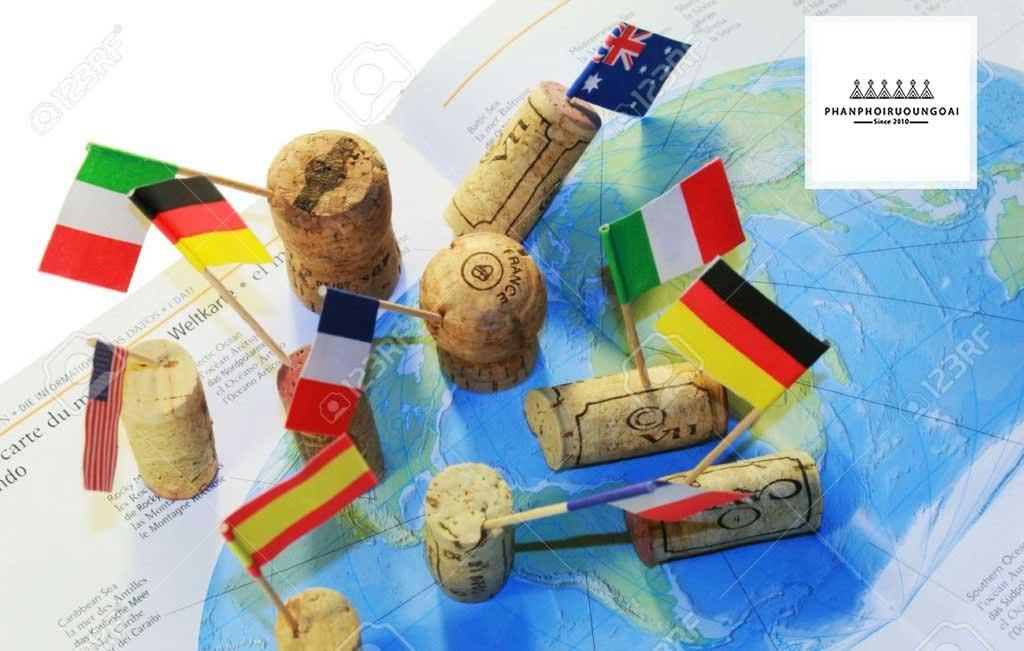 Bản đồ các quốc gia trồng giống nho Carménère