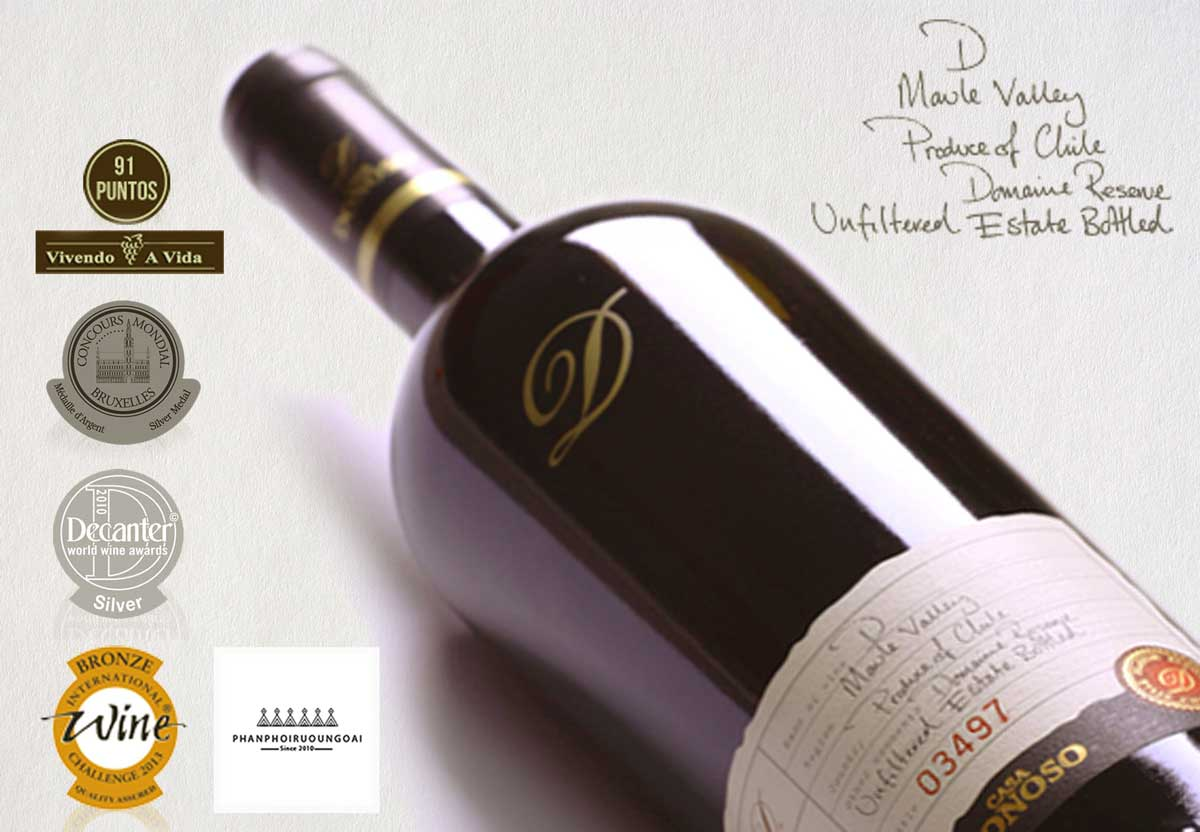 Dòng rượu vang Casa Donoso được đành giá cao bởi chuyên gia
