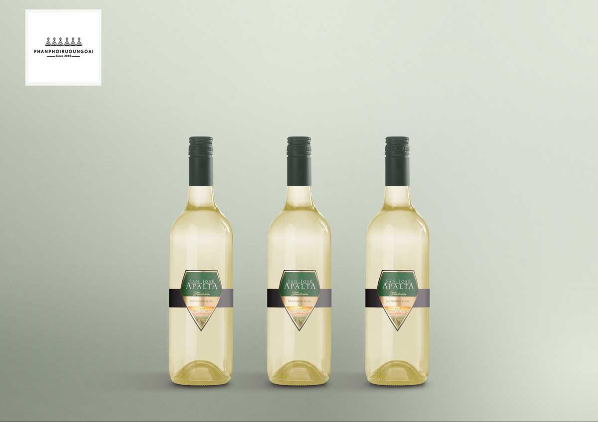 Hình ảnh các chai rượu San José Apalta Sauvignon Blanc