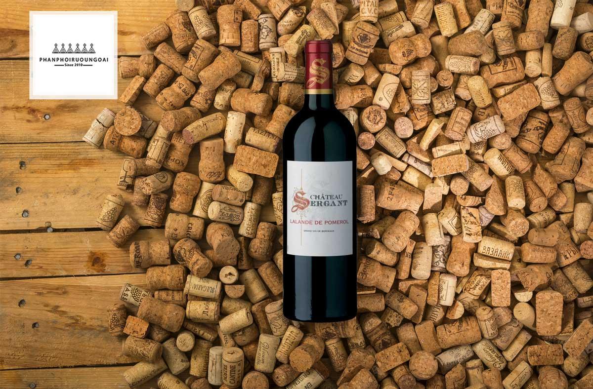 Rượu Vang Chateau Sergant Merlot và nút chai