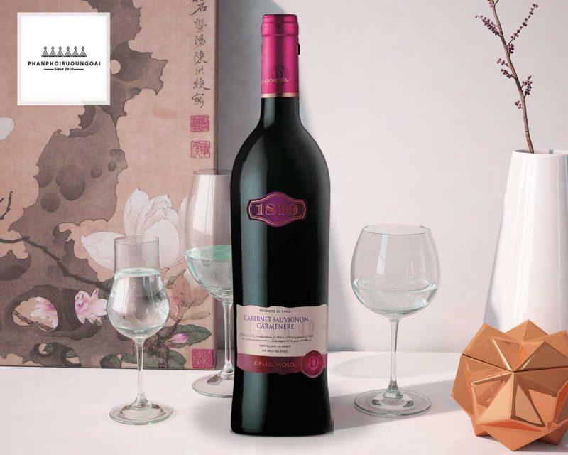 Rượu vang Casa Donoso 1810 ảnh chụp