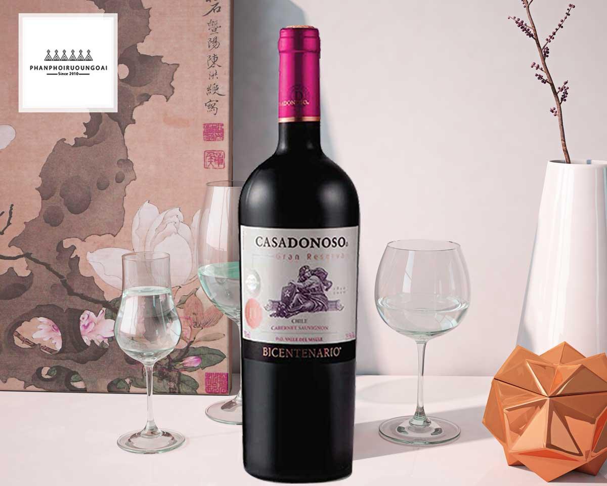 Rượu vang Casa Donoso Bicentenario Cabernet Sauvignon
