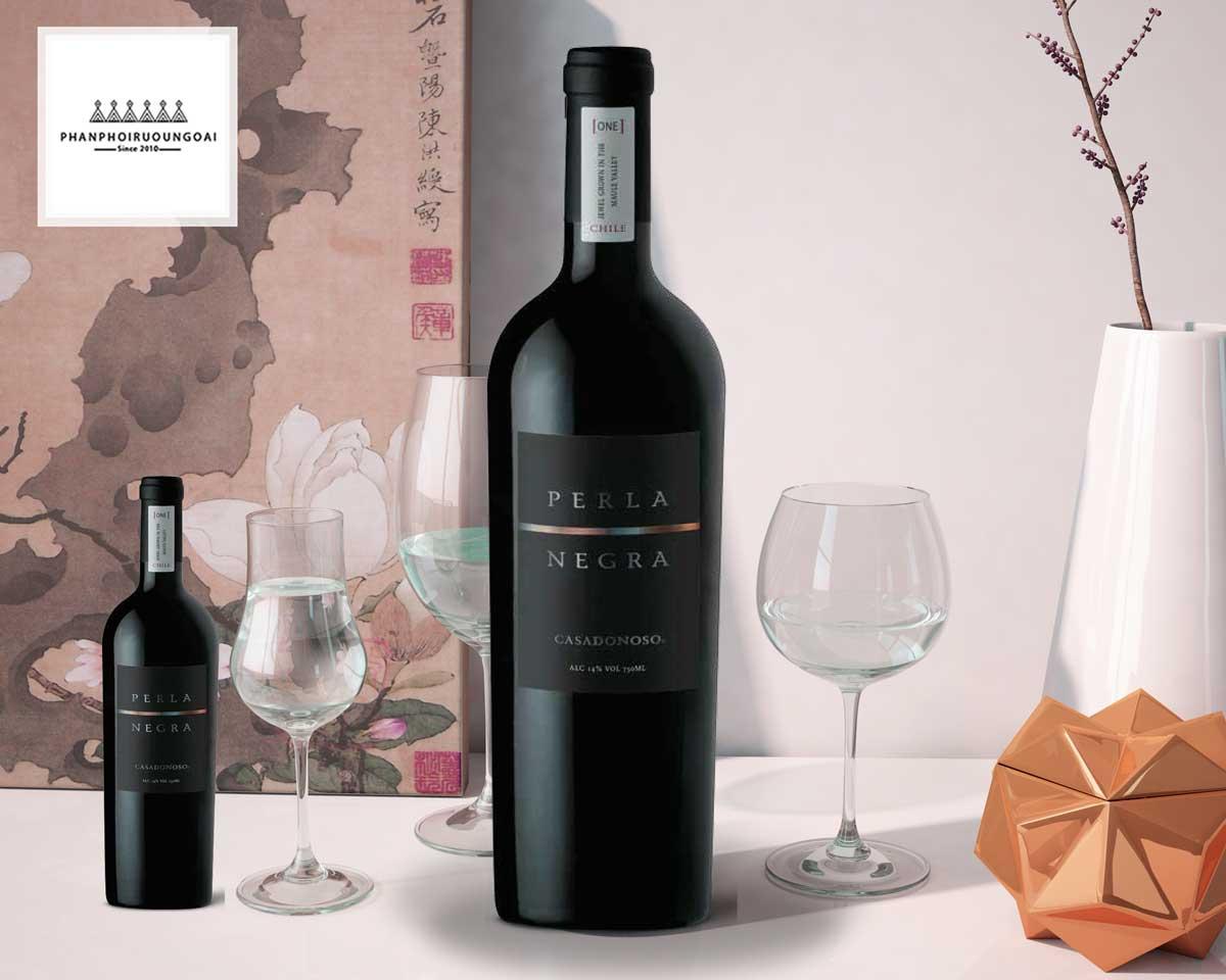 Rượu Vang Casa Donoso Perla Negra ảnh chụp