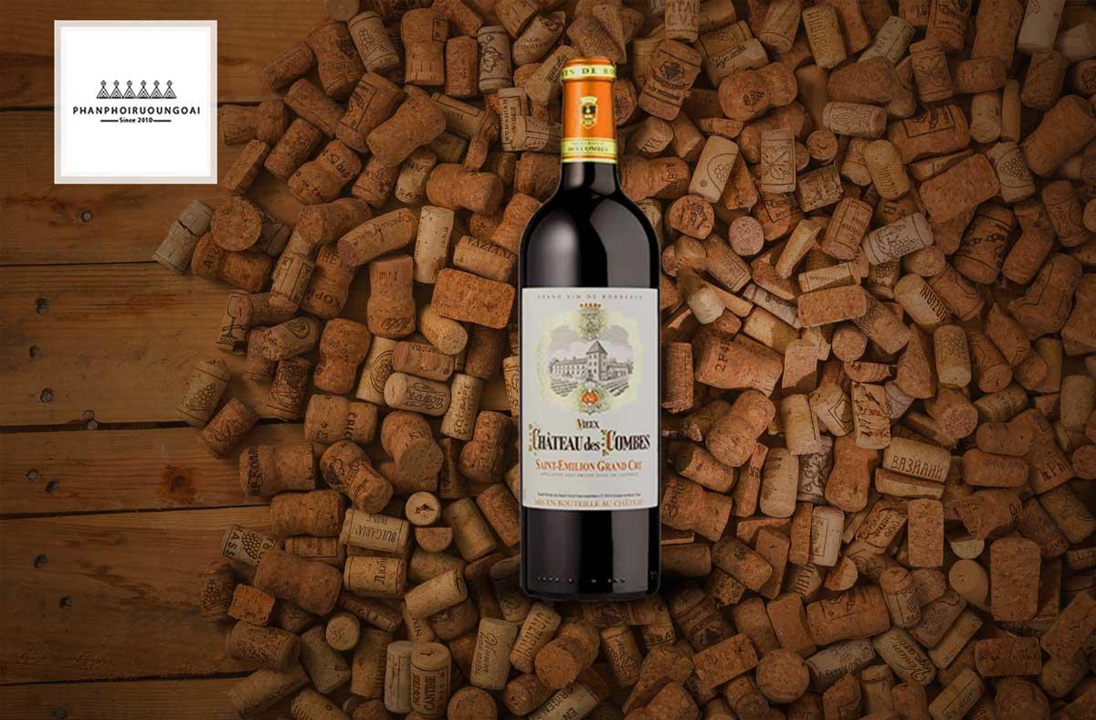 Rượu Vang Chateau Des Combes và nút chai
