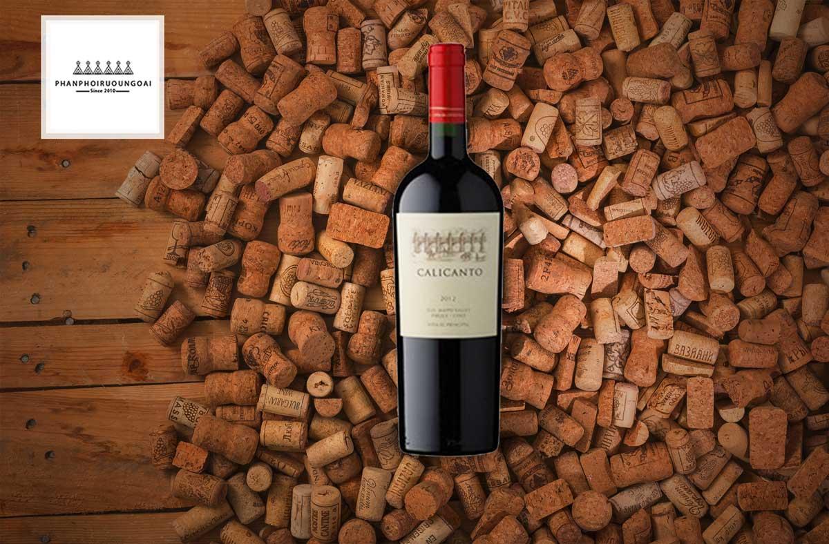 Rượu vang EL Principal Calicanto và nút chai