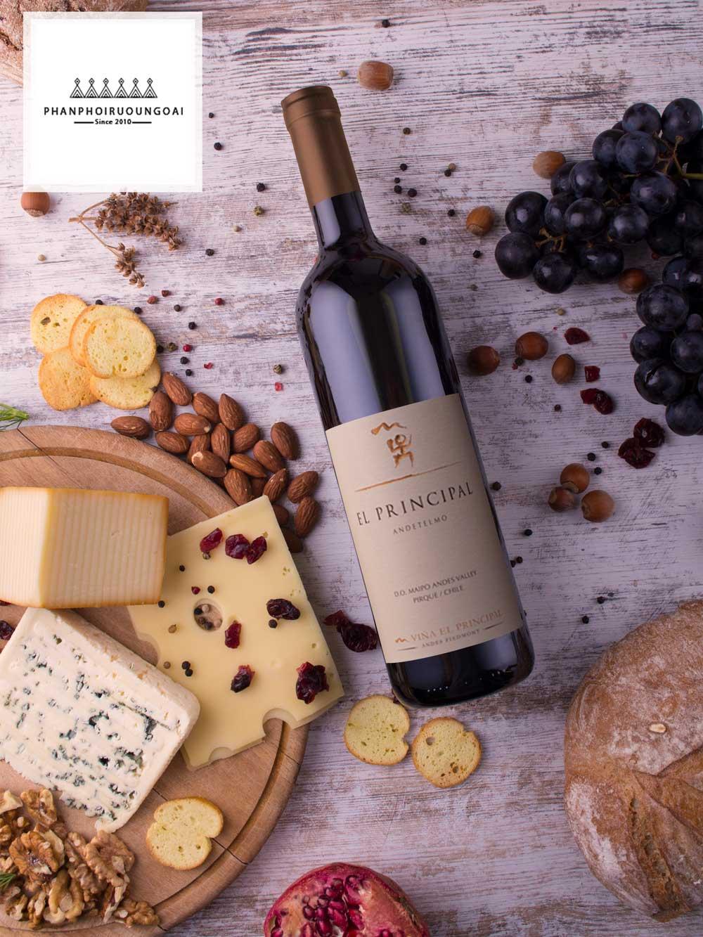Rượu Vang EL Principal Red Wine đến từ Chile