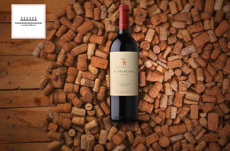Rượu Vang EL Principal và nút chai
