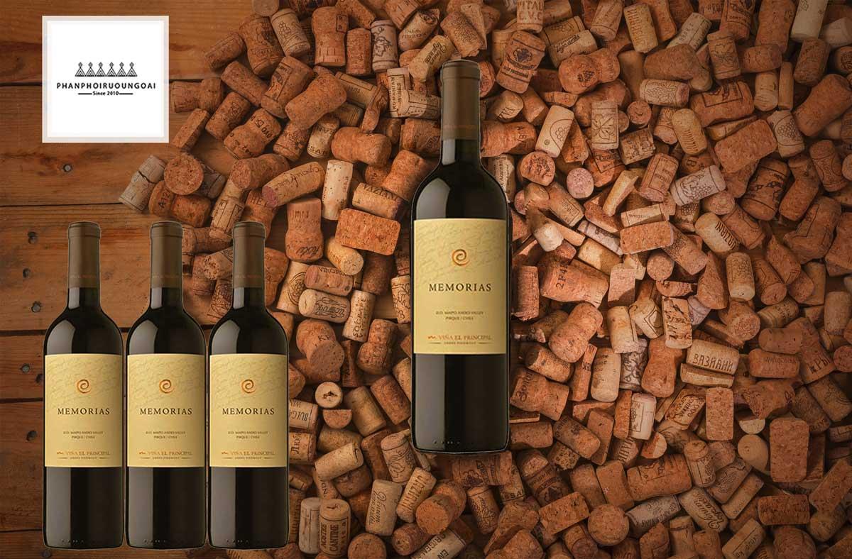 Rượu Vang EL Principal Memorias và nút chai