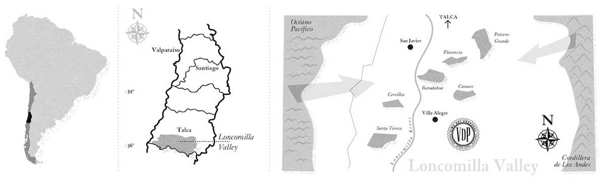 Bản đồ vùng rượu vang G7 Generation - Locomilla