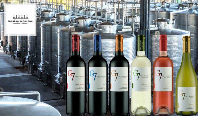 Các dòng rượu vang trẻ G7 của nhà PedRegal