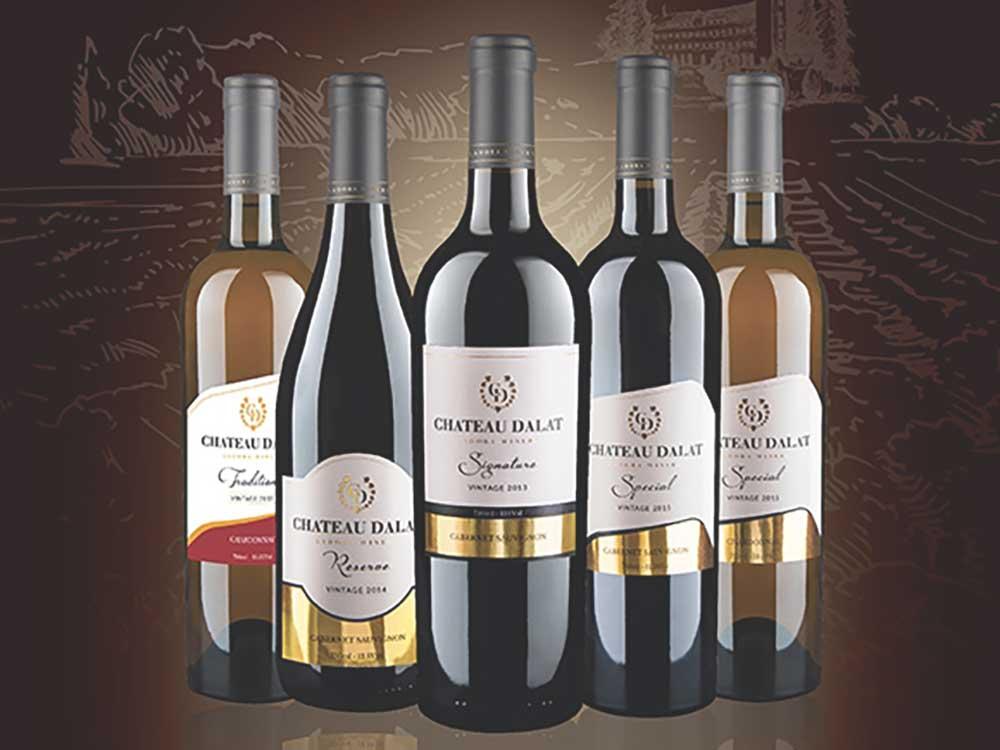 Các loại rượu vang Chateau Dalat