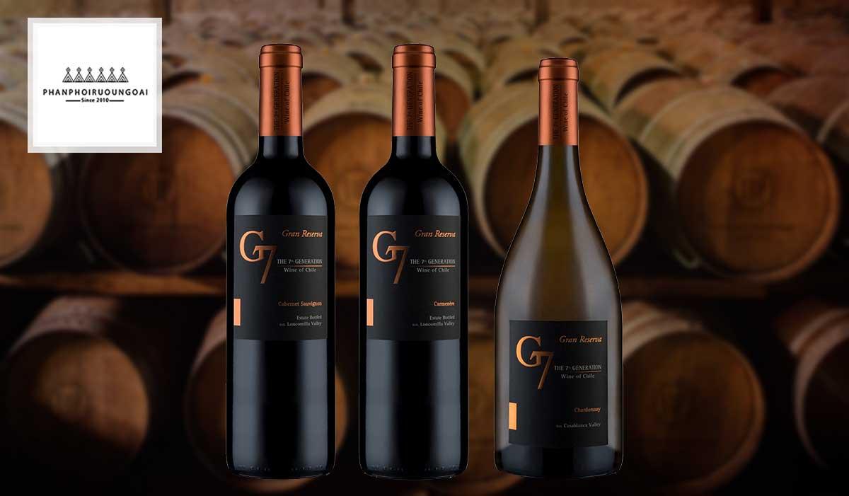 Các loại rượu vang G7 Generation Gran Reserva