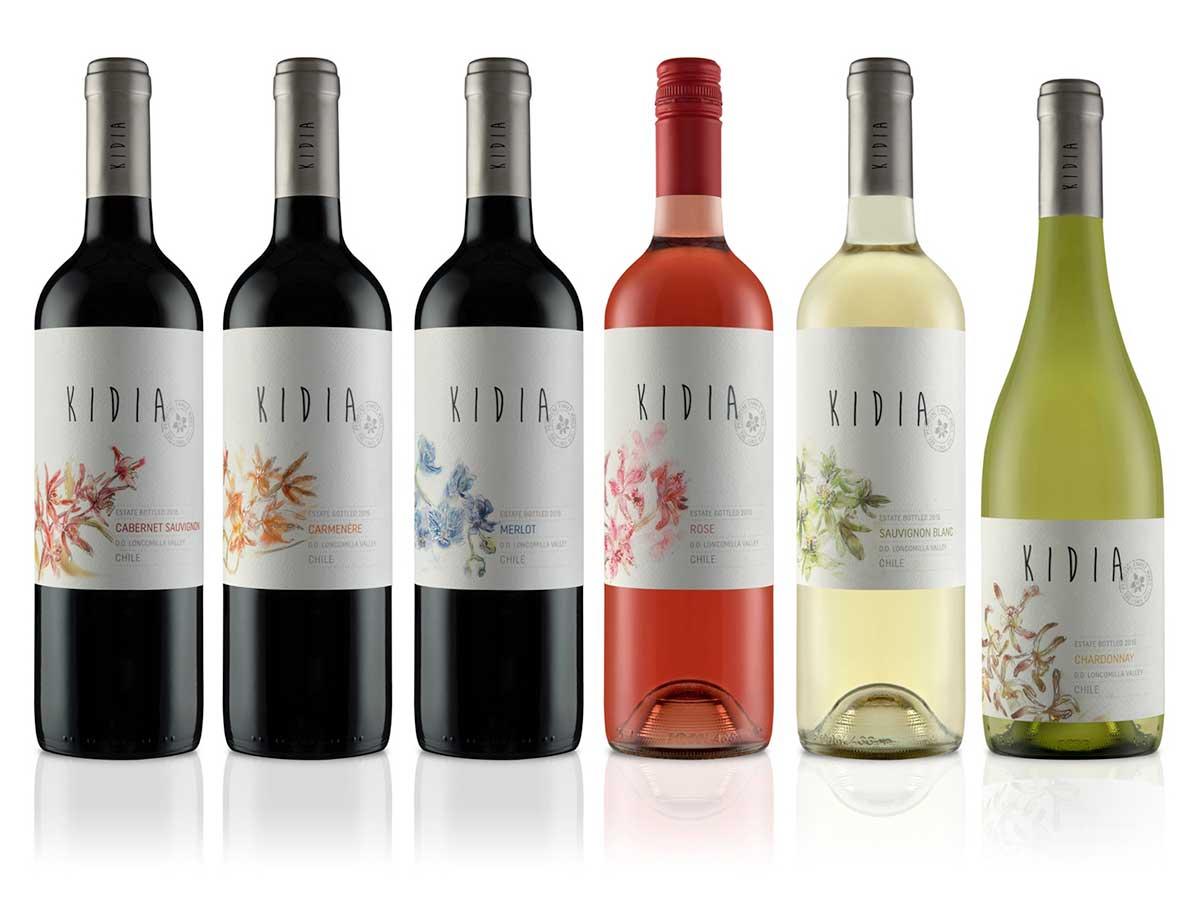 Các loại rượu vang được làm từ giống nho trẻ của Kidia của nhà Vina Del Pedregal