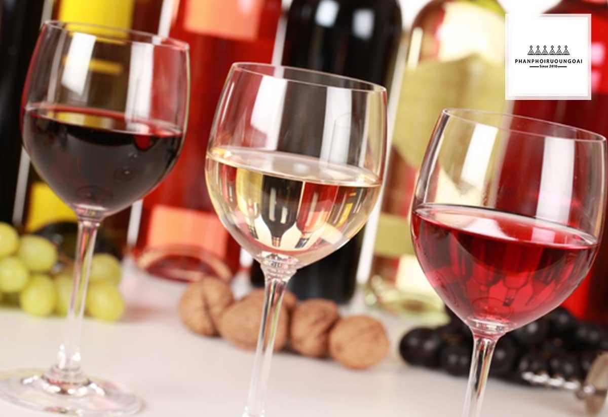 Phân loại rượu vang theo màu sắc