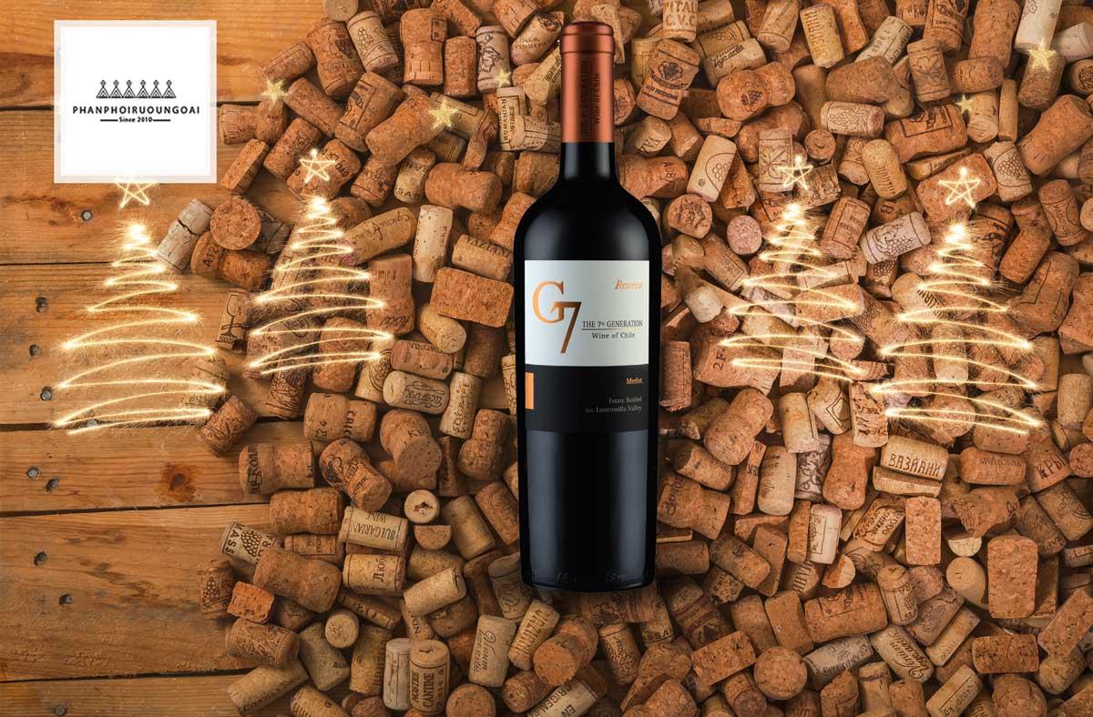 Rượu vang G7 Generation Reserva Merlot và nút chai