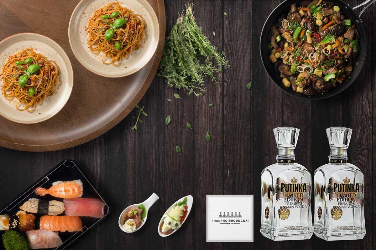 Rượu Vodka Putinka Limited Edition và món ăn