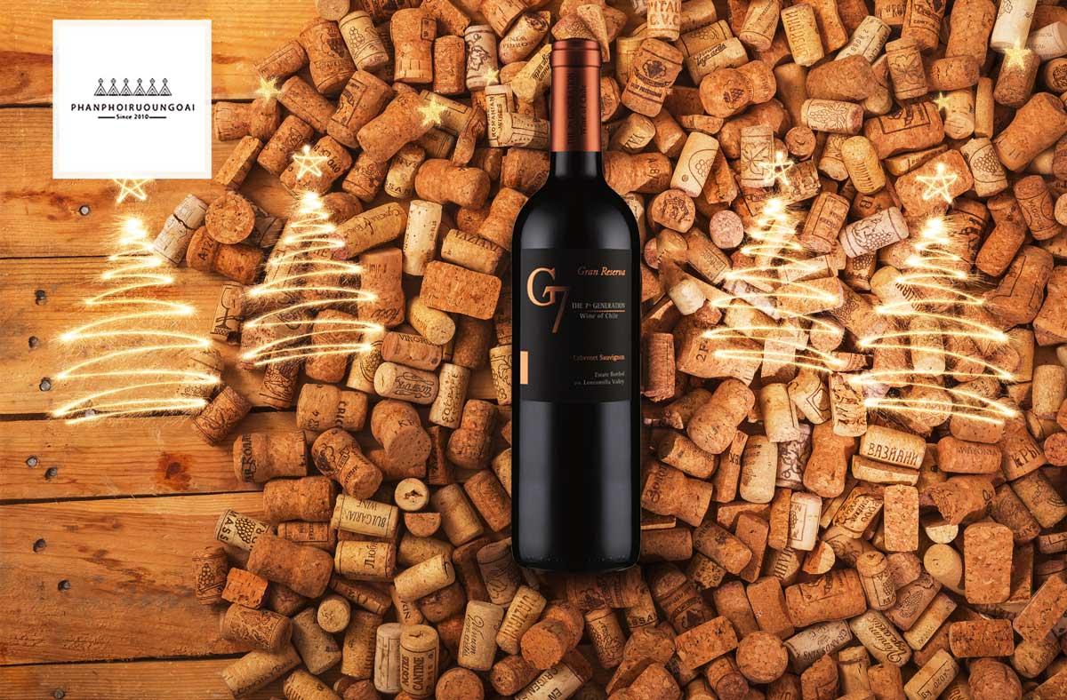 Rượu Vang G7 Generation Gran Reserva Cabernet Sauvignon và nút chai