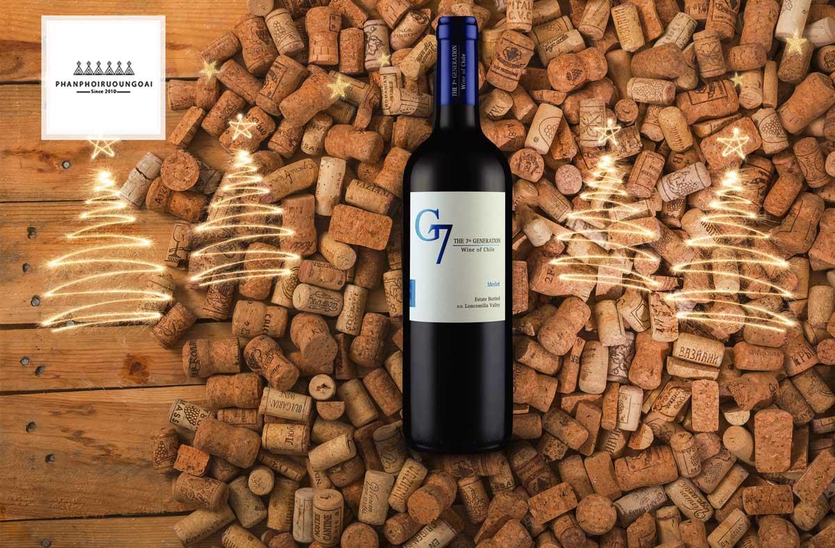 Rượu vang G7 Merlot và nút chai
