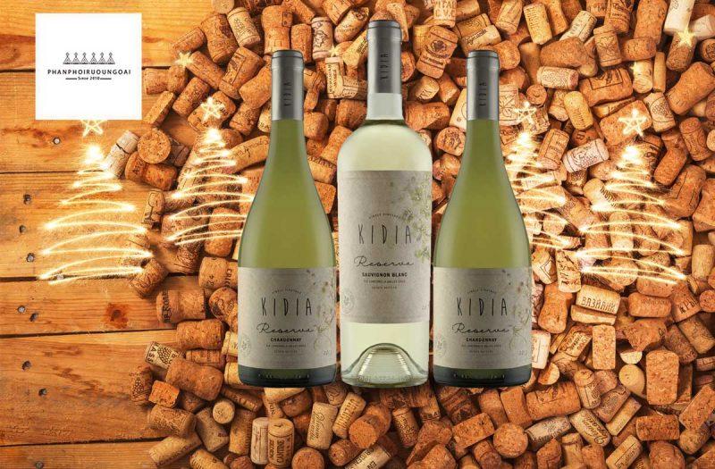 Rượu vang Kidia Reserva Chardonnay và nút chai