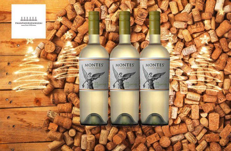 Rượu Vang Montes Classic Series Sauvignon Blanc và nút chai