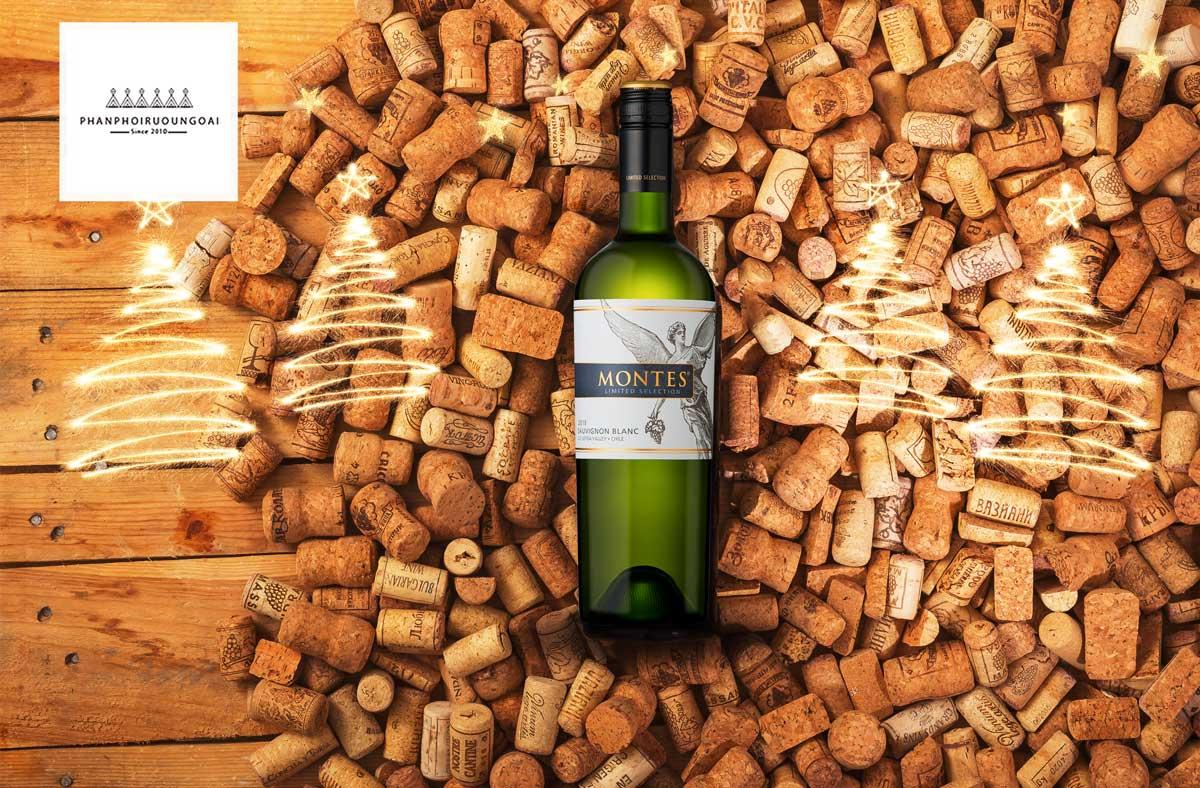Rượu vang Montes Limited Selection Sauvignon Blanc và nút chai
