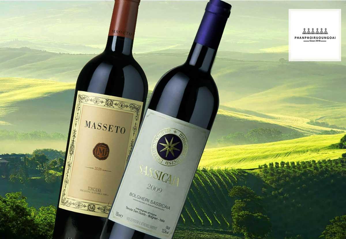 Rượu vang ngon thuộc đẳng cấp Super Tuscan