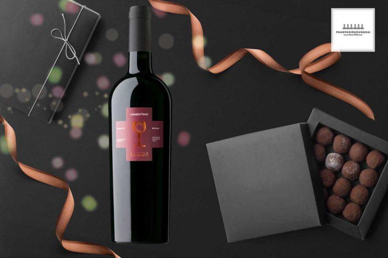Rượu Vang Schola Sarmenti Armentino món quà biếu tặng sang trọng