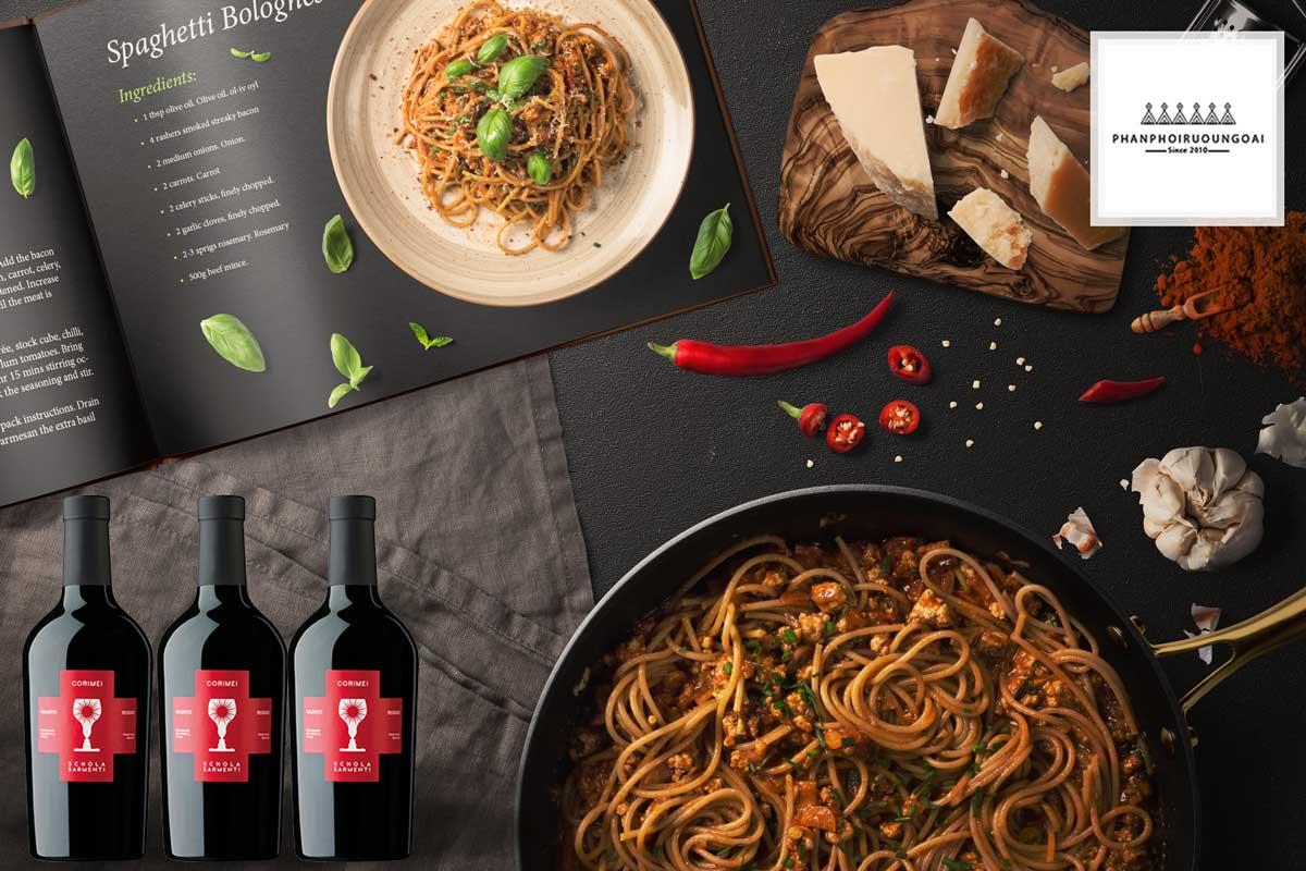 Rượu Vang Schola Sarmenti và bữa ăn