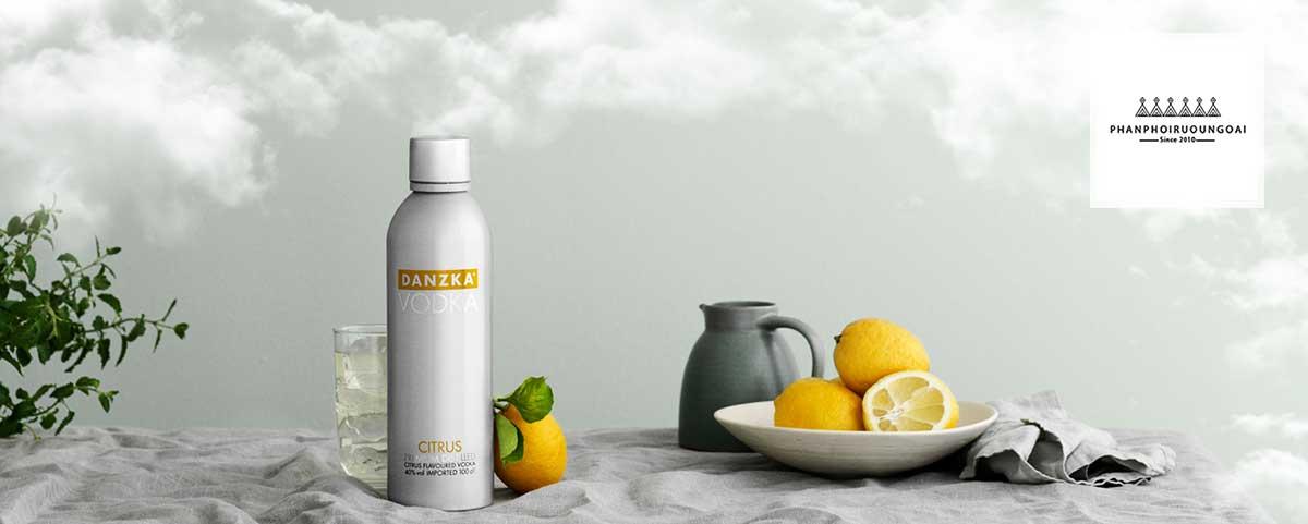 ảnh chụp rượu vodka Danzka Citrus - Cam Chanh