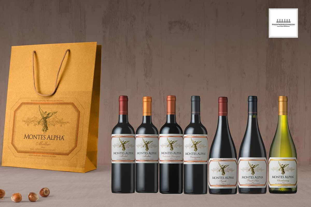 Các sản phẩm rượu vang của dòng Montes Alpha