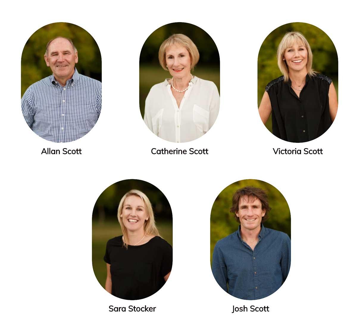 Các thành viên của gia đình Allan Scott