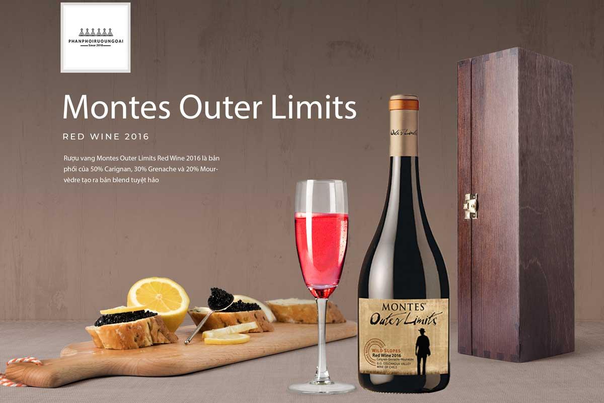 Giới thiệu Rượu vang Montes Outer Limits Red Wine 2016