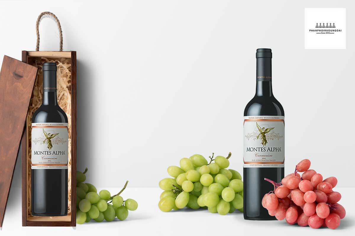 Rượu Vang Montes Alpha Carmenere và hộp quà 2019