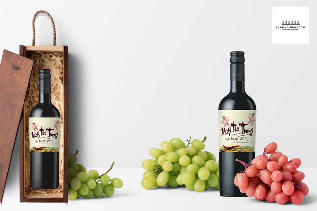 Hộp quà rượu vang Montes Twins
