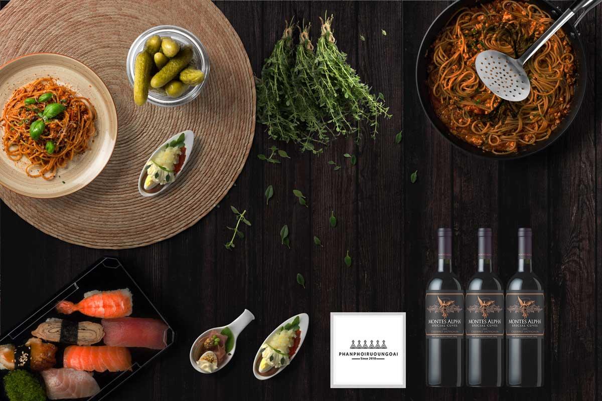 Rượu vang Montes Alpha Special Cuvee Cabernet Sauvignon và món ăn ngon