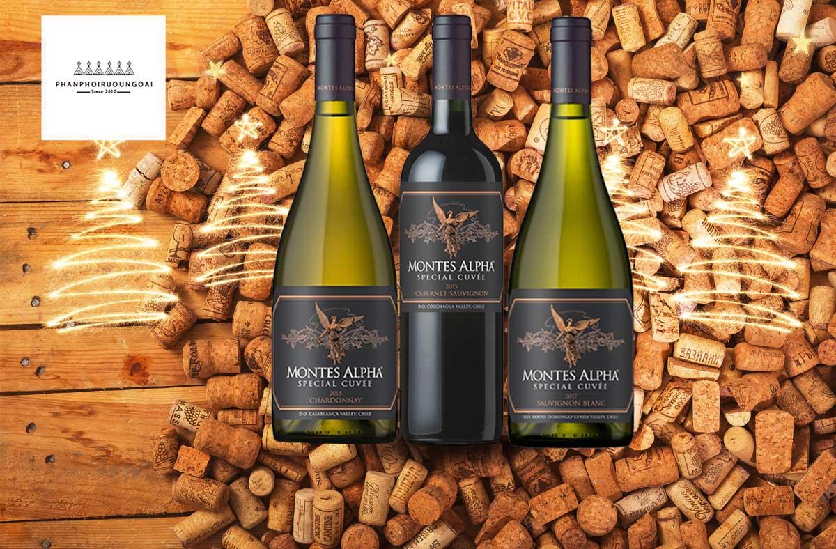 Rượu vang Montes Alpha Special Cuveé Chardonnay 2015 và nút chai