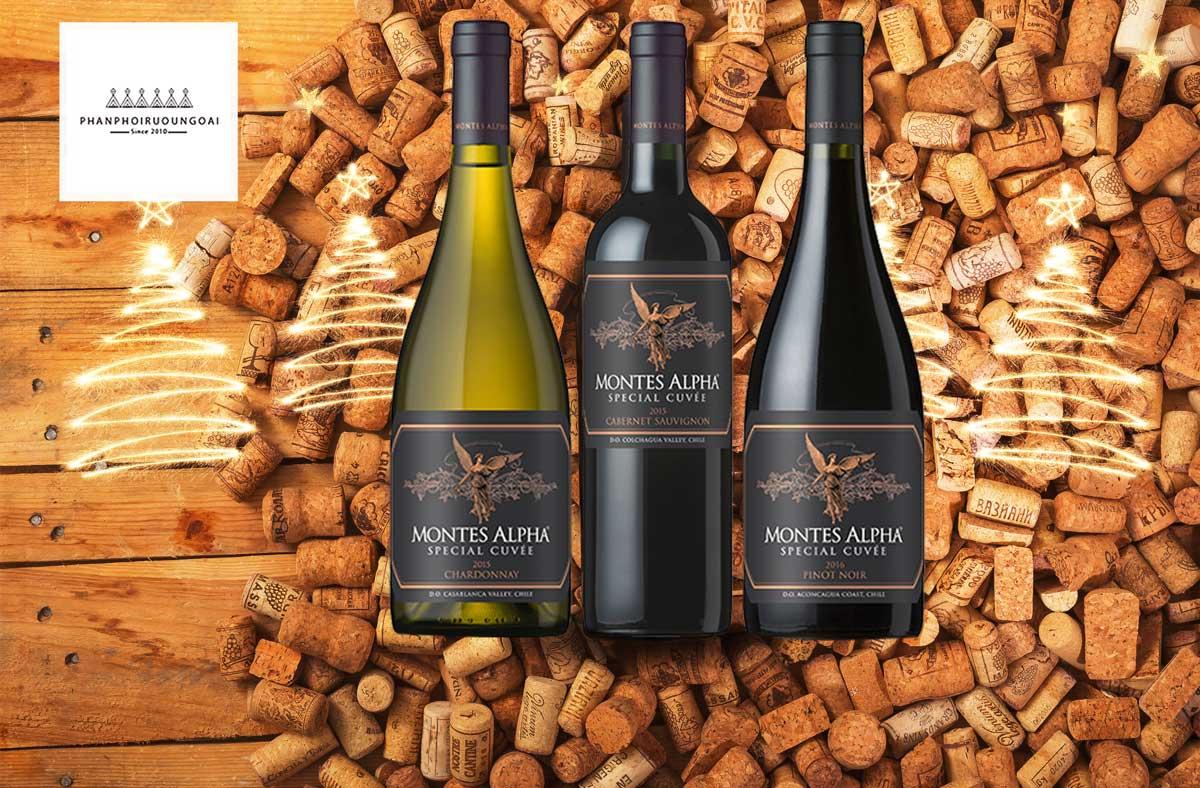 Rượu vang Montes Alpha Special Cuveé Pinot Noir 2016 và nút chai
